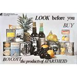 po052. Look before you buy. Boycott the products of apartheid