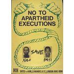 po086. No to Apartheid Executions: Save Xulu, Payi