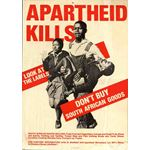 po091. Apartheid Kills. Look at the Labels
