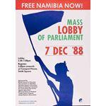 po108. 'Free Namibia' Lobby of Parliament