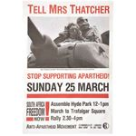 po123. Tell Mrs Thatcher Stop Supporting Apartheid