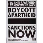 po125. Boycott Apartheid  Sanctions Now