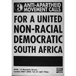 po126. For a United Democratic Non-racial South Africa