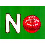 po143. No White South African Cricket Tour 1970