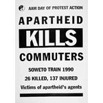 po154. 'Apartheid Kills Commuters'