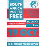 po166. 'South Africa Must Be Free' demonstration