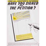 po170. 'Free All Apartheid's Detainees' petition poster