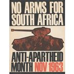 po186. 'No Arms for Apartheid'