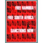 po200. 'Free Namibia! Free South Africa! Sanctions Now!'