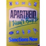 po207. 'Apartheid I Won't Buy It'