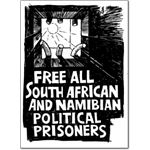 pri25. 'Free Political Prisoners' postcards