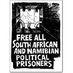 pri25. 'Free Political Prisoners' postcards