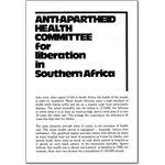 pro01. Anti-Apartheid Health Committee