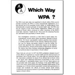 pro04. Which Way WPA?