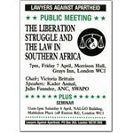 pro12. 'The Liberation struggle and the Law' meeting