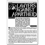 pro15. Lawyers Against Apartheid Bulletin 1