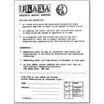 pro21. Architects Against Apartheid membership leaflet