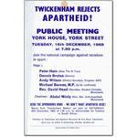 spo07. 'Twickenham Rejects Apartheid!'