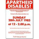 spo16. 'Apartheid Disables!'