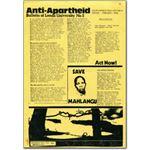 stu09. Leeds University Anti-Apartheid Bulletin