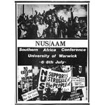 stu34. NUS/AAM conference leaflet, 1979