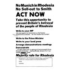 zim08. 'No Munich in Rhodesia'