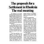 zim10. The Proposals for a Settlement in Rhodesia