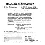 zim16. 'Rhodesia or Zimbabwe?' conference